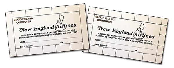 Block Island Airlines Commuter Cards